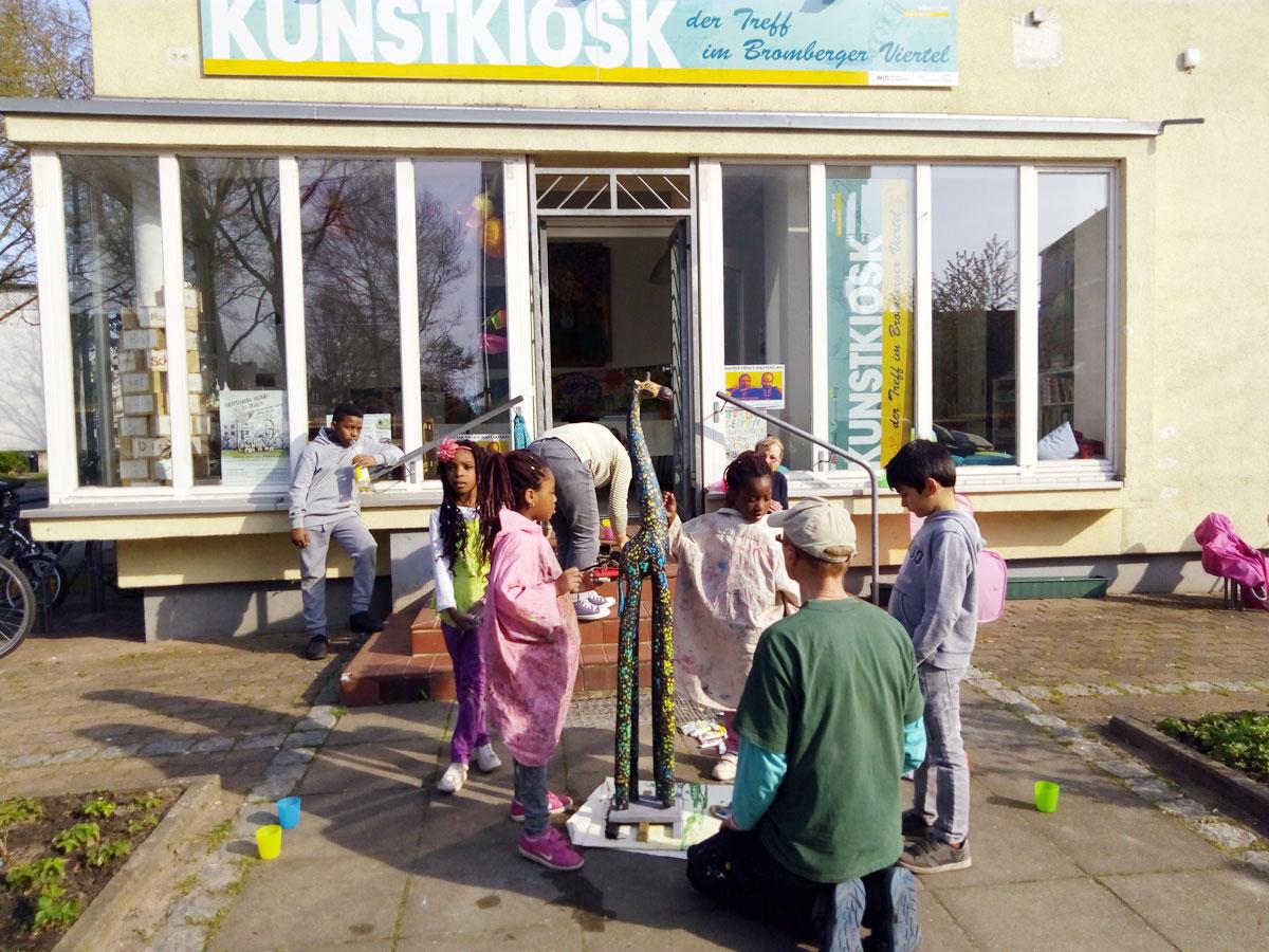 Mobiles Atelier im Kunstkiosk